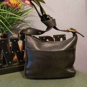 Coach Legacy Black Leather Crossbody Bag Vintage